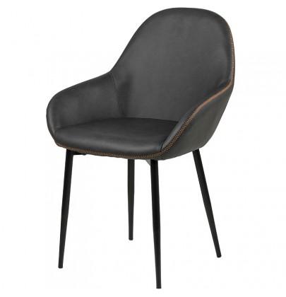 Candis krzesło PU grafit