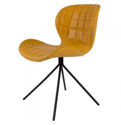 OMG PU krzesło żółte