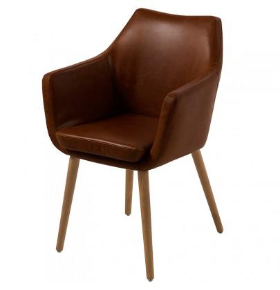 Nora PU brąz krzesło