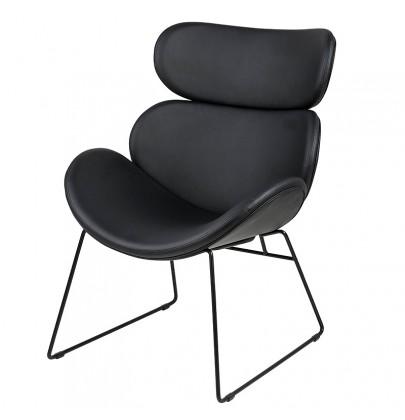 Cazar fotel czarny nogi czarne