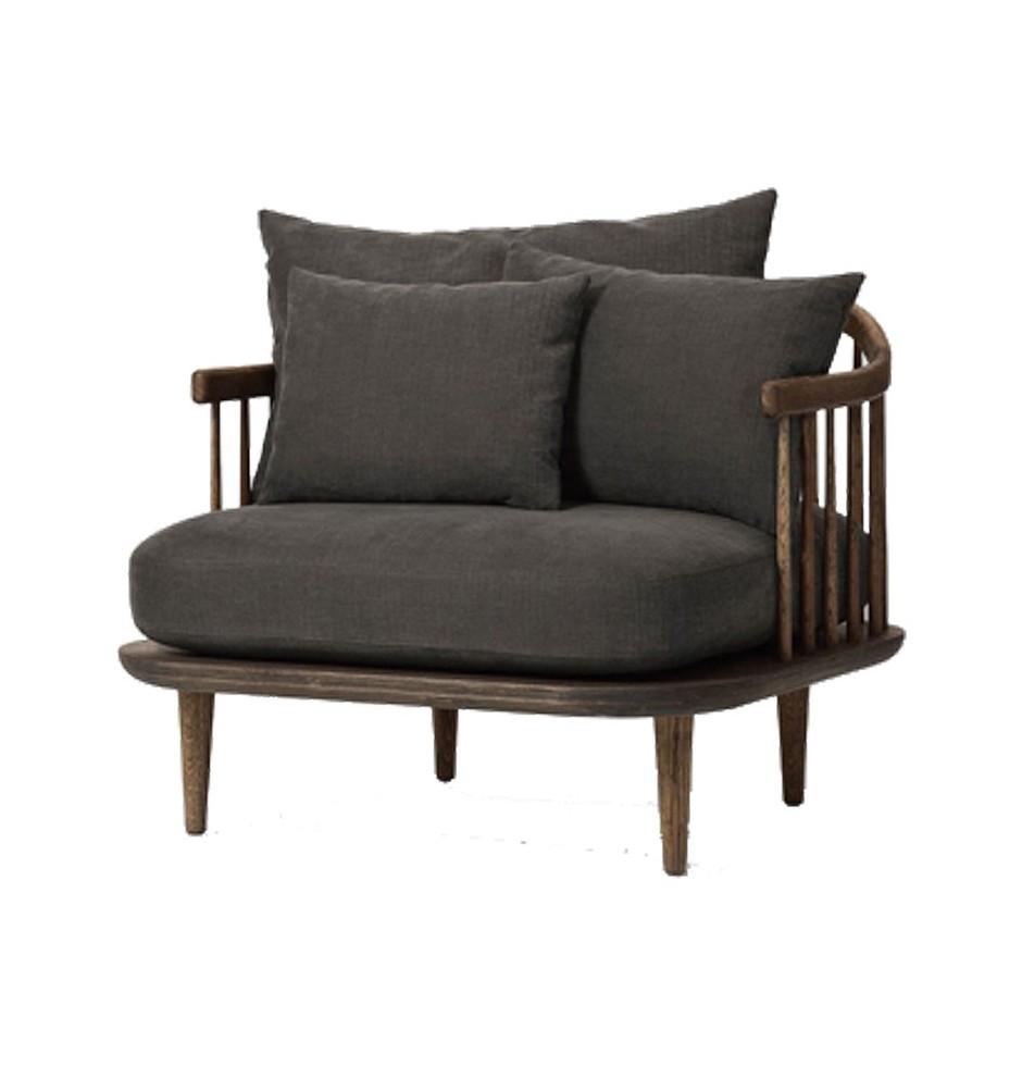 fotel fly marki &tradition, kanapa drewniana, sofa skandynawska, meble & tradition