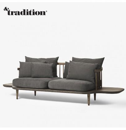 sofa fly marki &tradition, kanapa drewniana, sofa skandynawska, meble & tradition