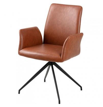 Naya krzesło obrotowe cognac