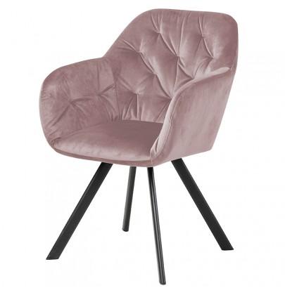 Lola VIC krzesło pudrowy róż
