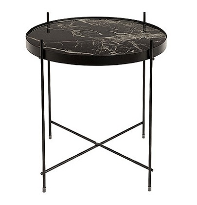 Cupid stolik czarny marmur