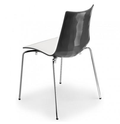 Zebra Bicolore krzesło grafit