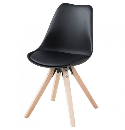 Dima krzesło czarne PU